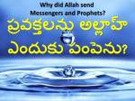 Why did Allah send  Messengers and Prophets?